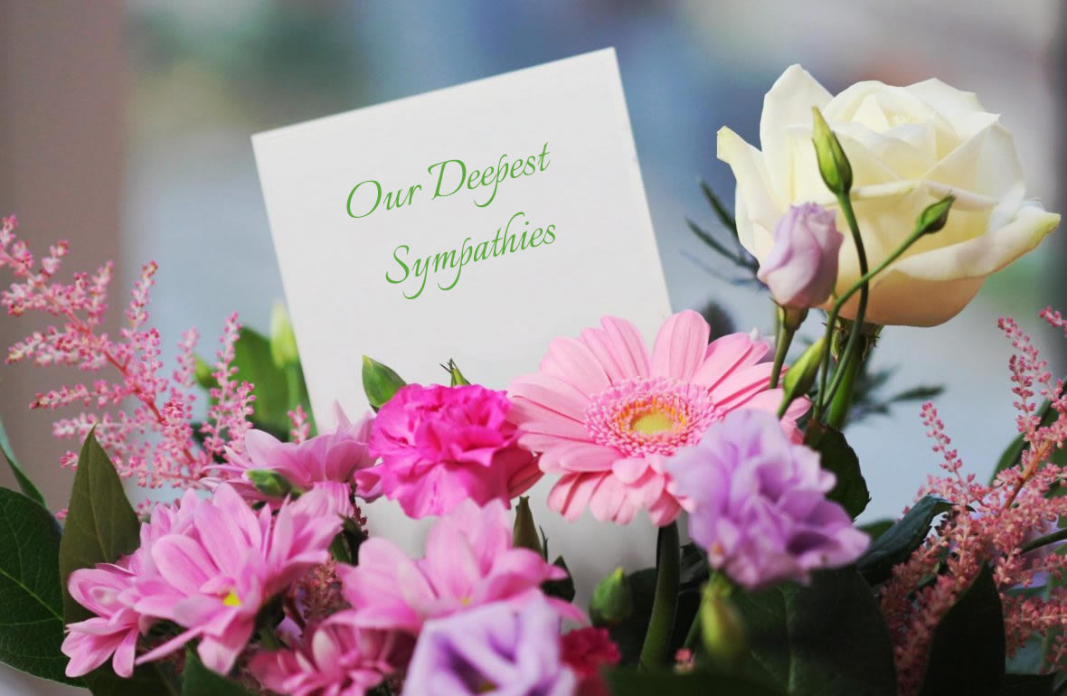 sending sympathy flowers