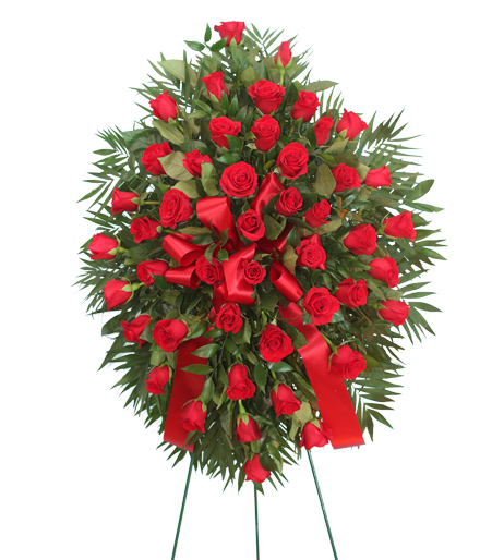 Beautiful Red Rose Memorial Spray