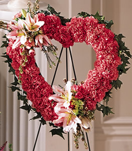 Our Love Eternal Heart Wreath