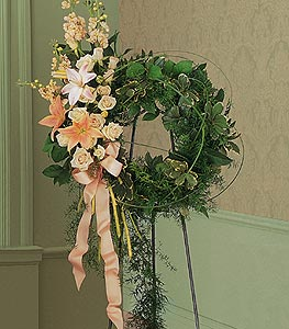 Peach Comfort Wreath
